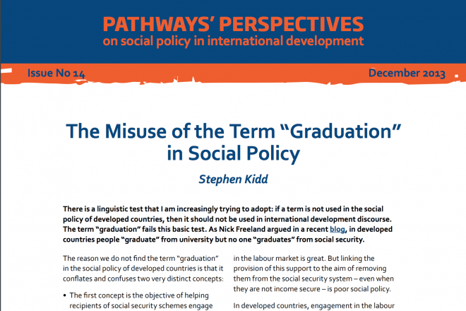 The Misuse of the Term 'Graduation' in Social Policy
