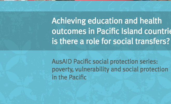 Achieving Education and Health Outcomes in Pacific Islands