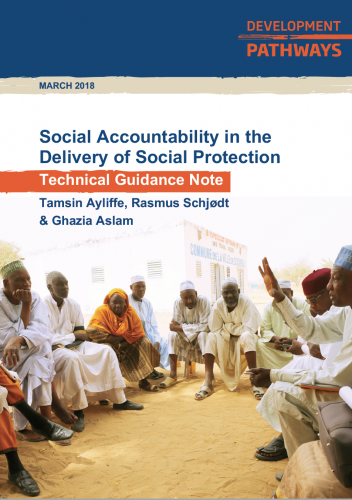 DFID Social Accountability in the Delivery of Social Protection - Technical Guidance Note