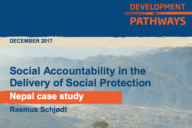 Social Accountability in the Delivery of Social Protection Nepal Case Study