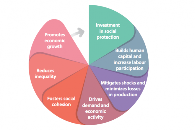A virtuous cycle promoting economic growth