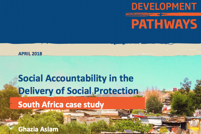 Social Accountability in the Delivery of Social Protection South Africa Case Study