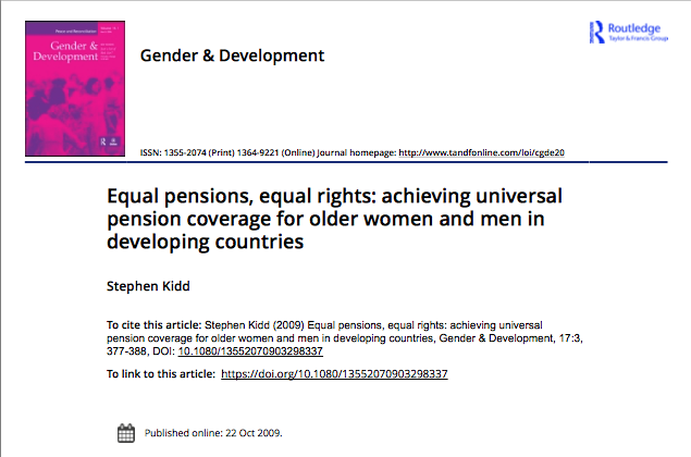 Equal pensions, equal rights?