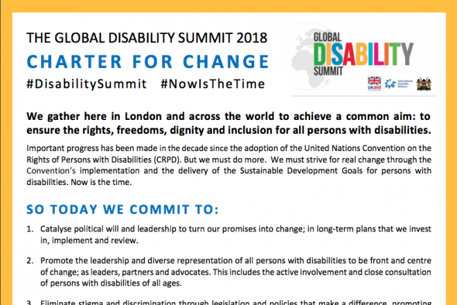 Global Disability Summit to back social protection for persons with disabilities