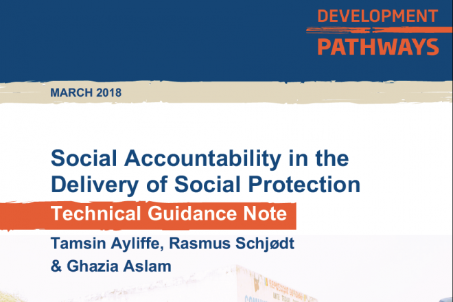 Social Accountability in the Delivery of Social Protection - Technical Guidance Note