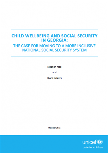 Child wellbeing and social security in Georgia