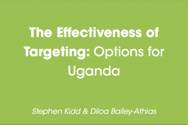 The Effectiveness of Targeting: Options for Uganda