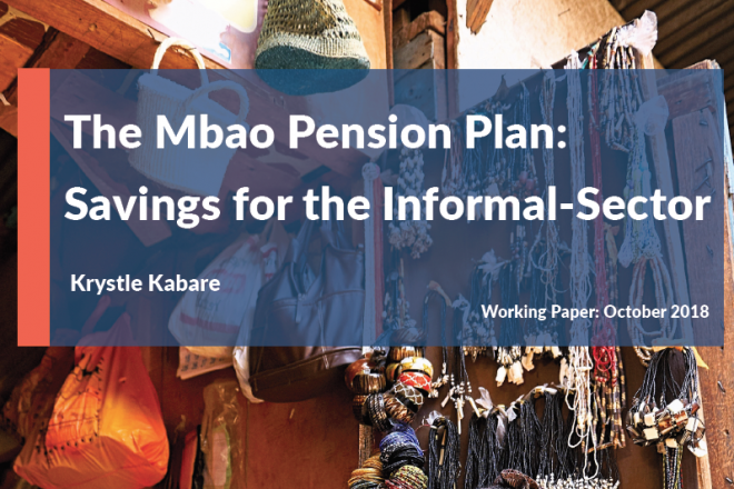 Mbao Pension Plan: Savings for the Informal Sector