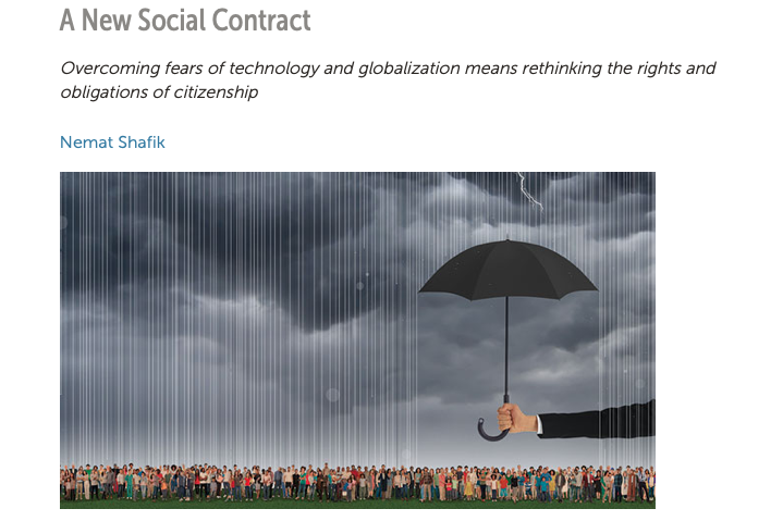Social protection and a new social contract