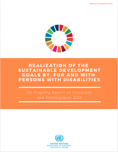 Realization of the SDGs By, For and With Persons with Disabilities