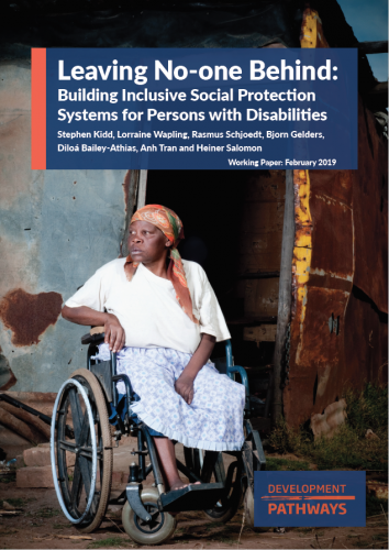 Building Inclusive Social Protection Systems for Persons with Disabilities